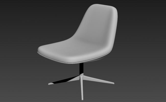 Modern Chair 3D MAX File Free Download