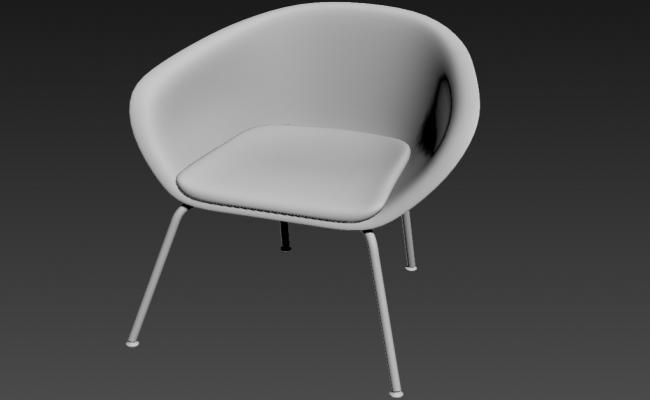 Modern Chair 3d model Max File Download