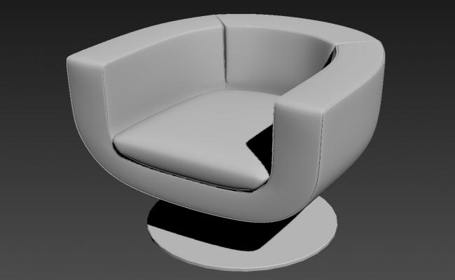 Modern Chair In Round Shape 3D MAX file Free