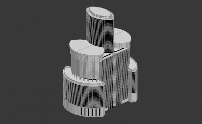 Modern Commerce Building Design 3d Max File