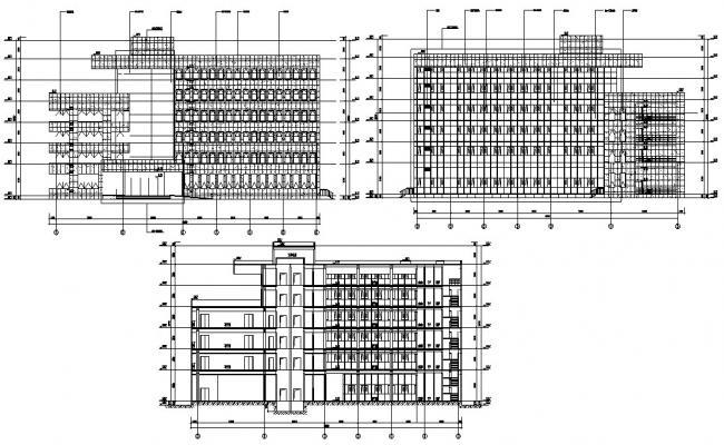 Modern Commercial Building Elevation Designs AutoCAD File