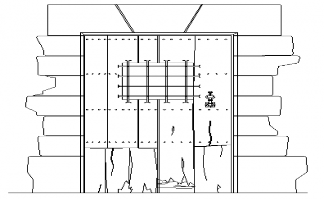 Modern Design of Door Elevation dwg file