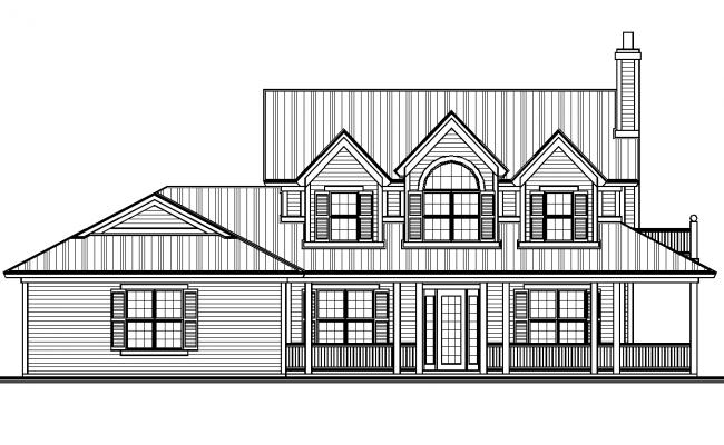 Modern Elevation design dg file