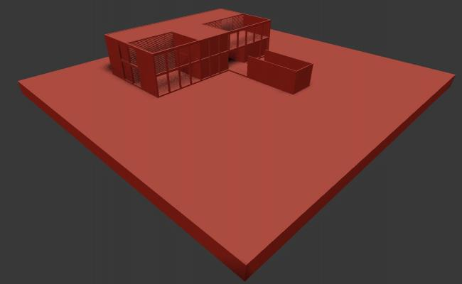 Modern Elevation of  Bungalow In 3D MAX File Free