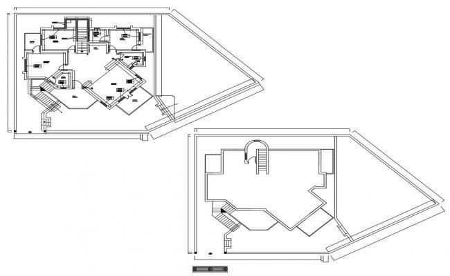 Modern Home Floor Plan In DWG File