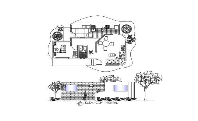 Modern House Design In AutoCAD File