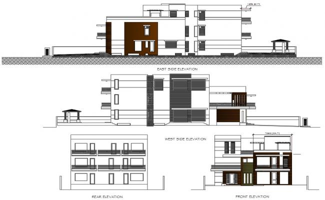 Modern House Elevation Drawing