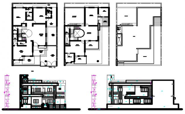 Modern House Plan AutoCAD File
