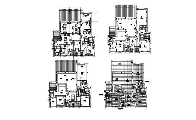 Modern House Plan In AutoCAD File