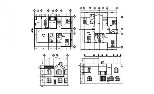 Modern House Plan In DWG File