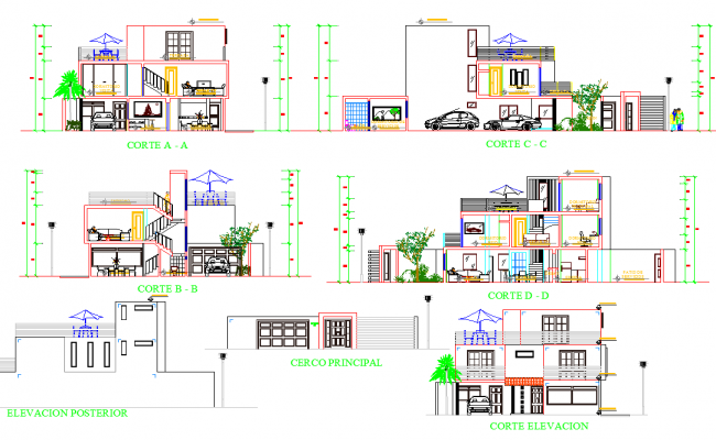 Modern House Plan dwg file
