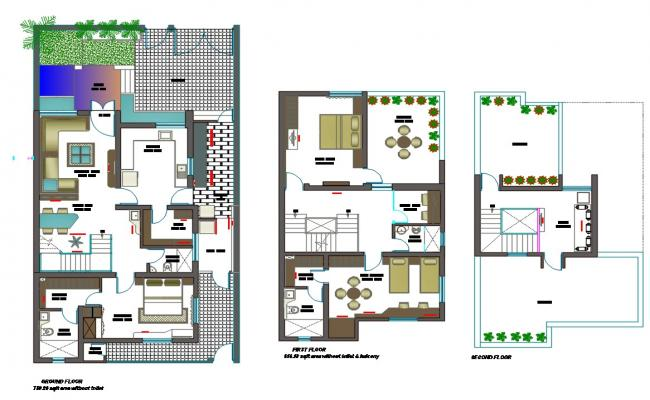 Modern House Project AutoCAD File