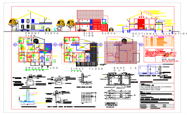 Modern House plan detail