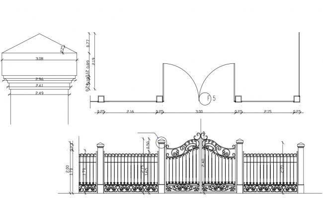 Modern Main Gate Designs CAD File