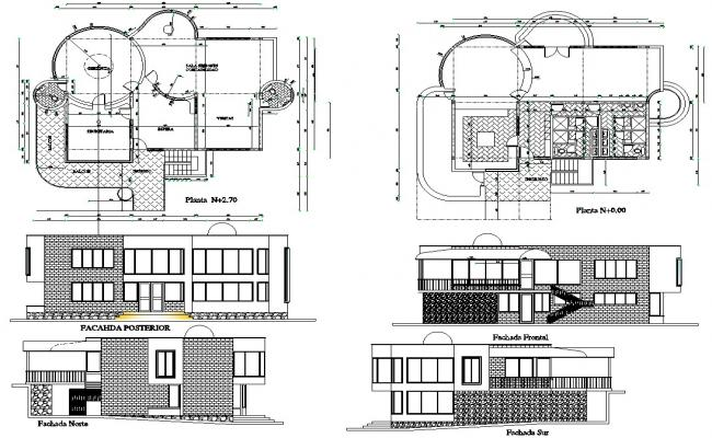 Modern Office Building CAD Drawing