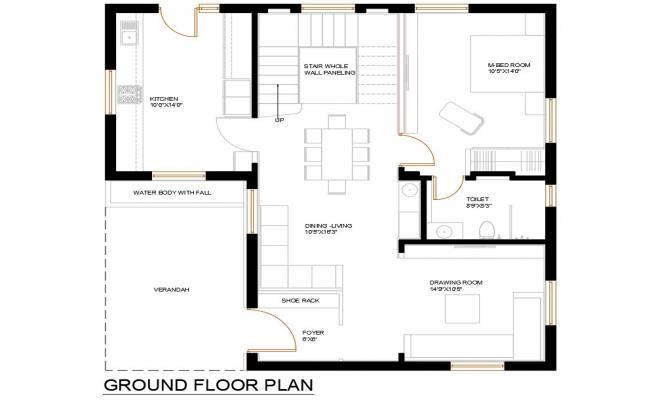 Modern Planning Of Huge Bungalow Design AutoCAD File