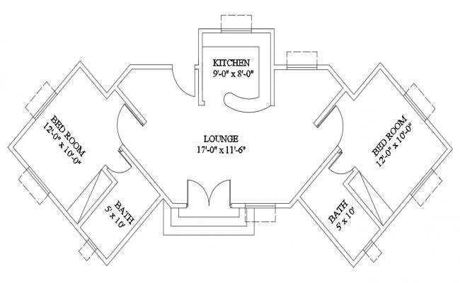 Modern Residence House Plan DWG File
