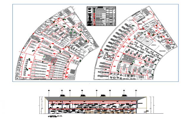 Modern Restaurant Plan & Elevation detail