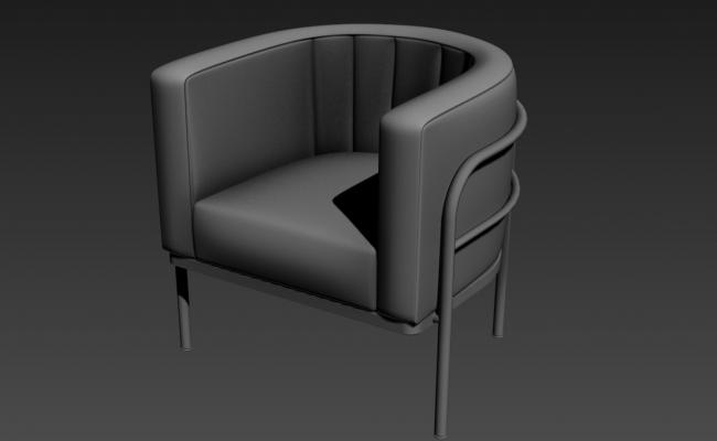 Modern Sofa In Round Shape 3D MAX File Free Download