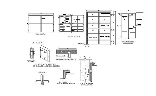 Modern Steel Gate Design In AutoCAD File
