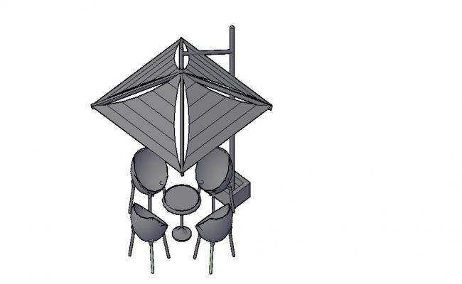 Modern Table 3D Model In DWG File