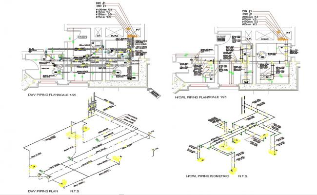 Modern Toilet Design With Working Drawing AutoCAD File