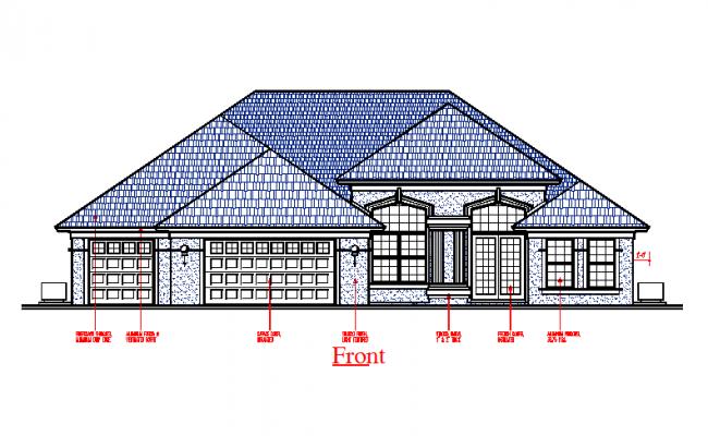 Modern Wooden House Elevation design