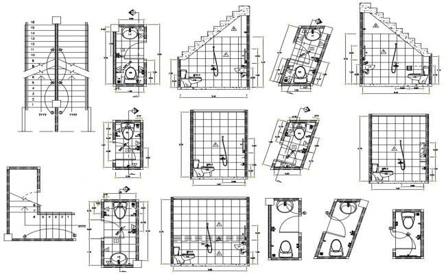 Modern bathroom design CAD file