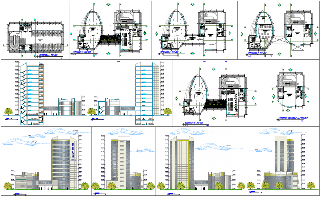 Modern commercial building architecture design