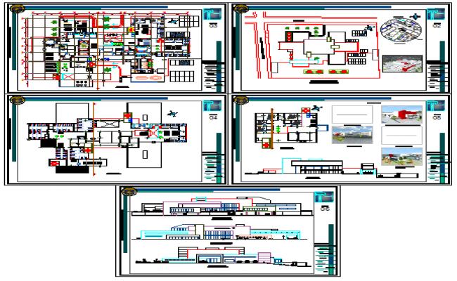 Modern hospital design drawing