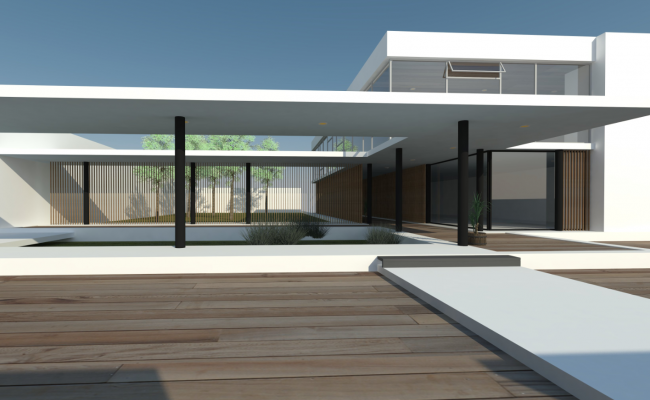 Modern house architecture 3d sketchup model for Modern house sketchup