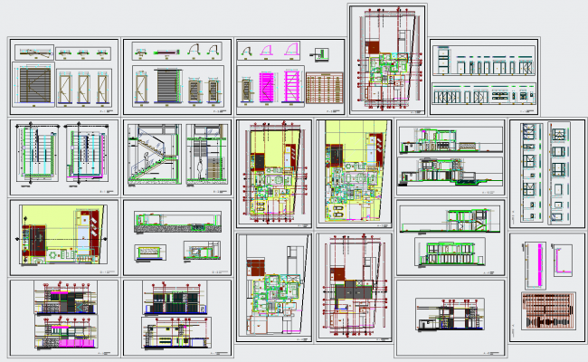 Modern house architecture projects detail & design in autocad dwg files