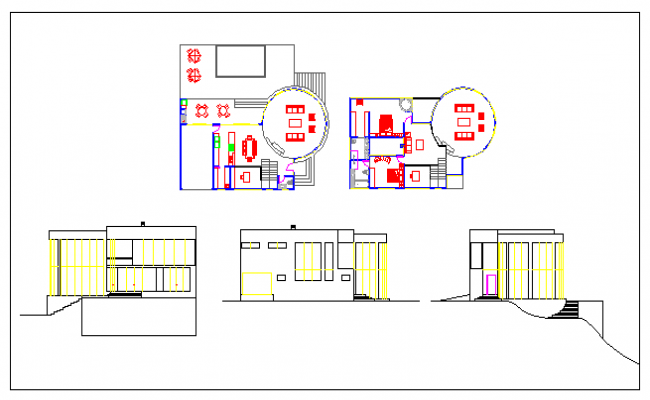 Modern house design drawing