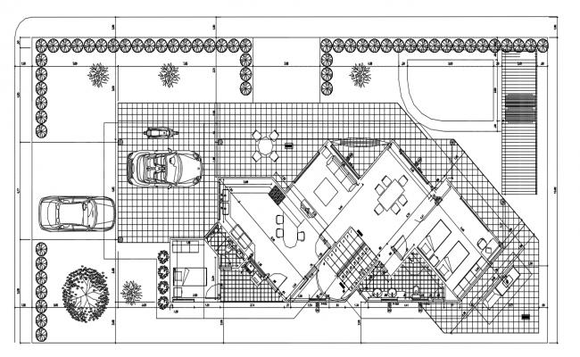 Modern house plan DWG