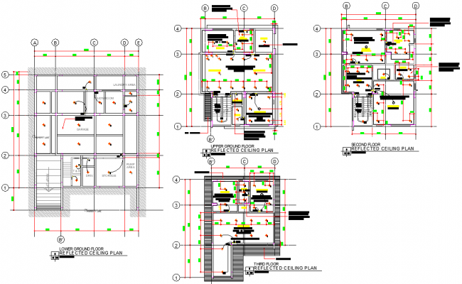 Modern house with detail layout file