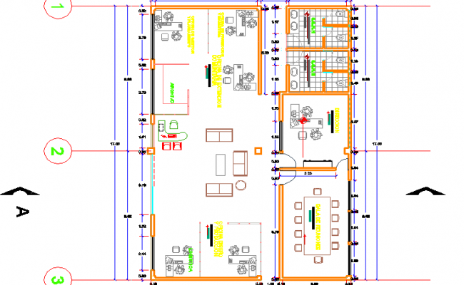 Modern layout design of a office dwg file