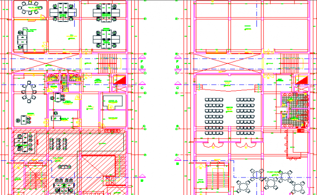Modern layout plan of office,conference room, furniture detailing etc