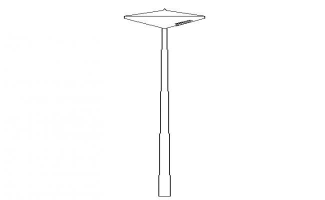 Modern style street light pole cad design dwg file