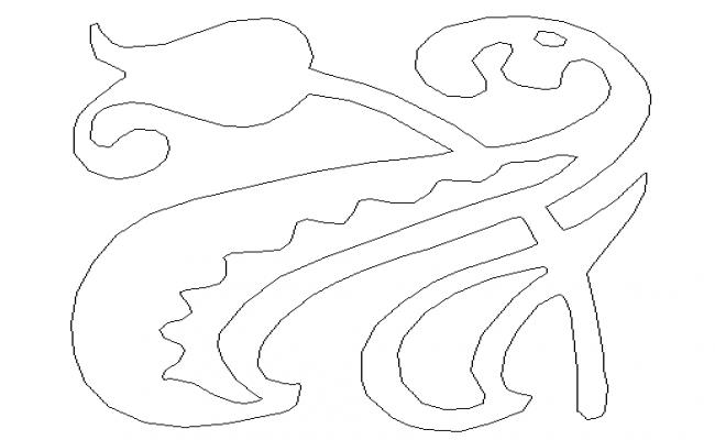Modern tile design block details dwg file