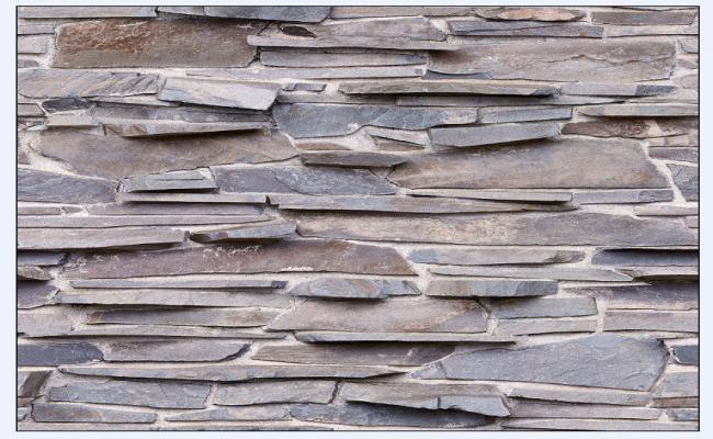 Modern type texture block of stone masonry