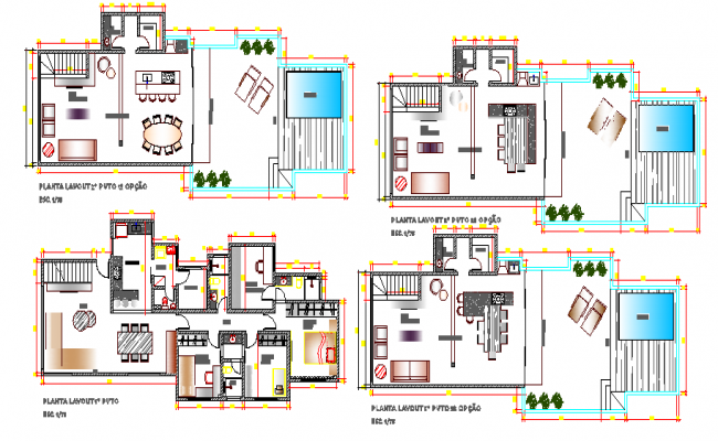Modern villa type bungalow architecture layout plan for Villa moderne plan