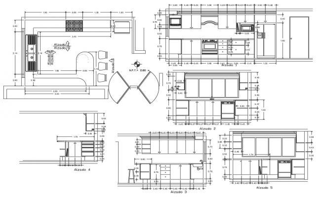 Modular Kitchen AutoCAD Drawing