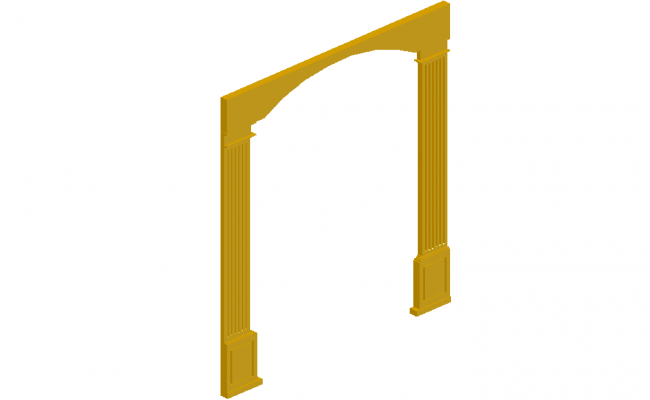 Mold design of entrance in 3d view