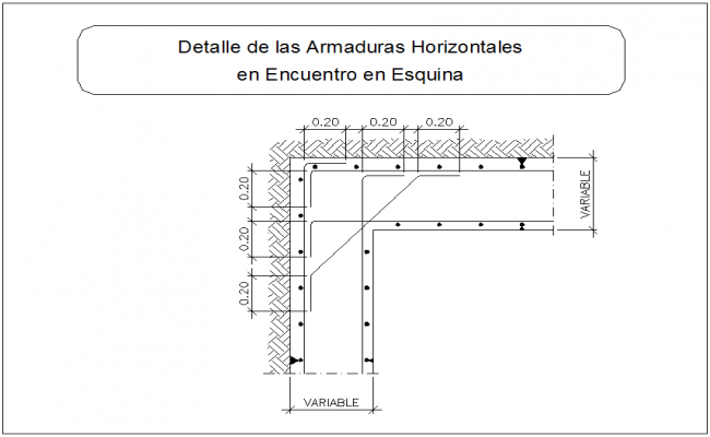 Monolithic joint of beam column detail section view dwg file
