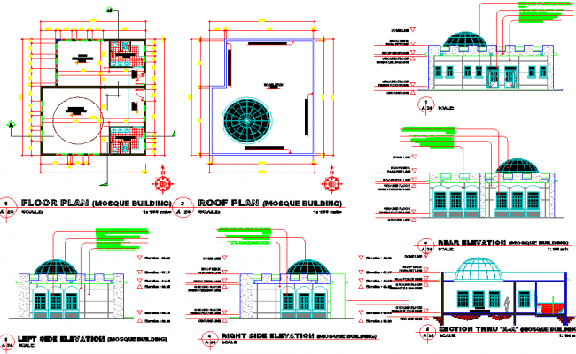 Mosque Building plan