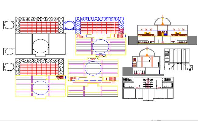 Elevation Floor Plan Autocad : Mosque drawing elevation floor plan in autocad