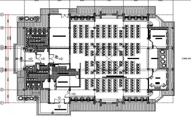 Mosque floor plan dwg file