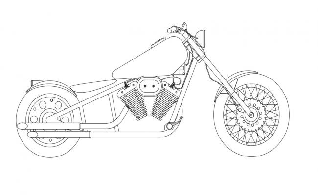 Motorbike CAD Block Free Download