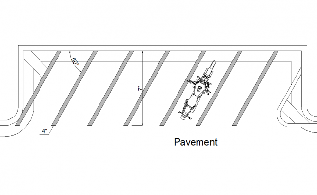 Motorcycling pavement dwg file