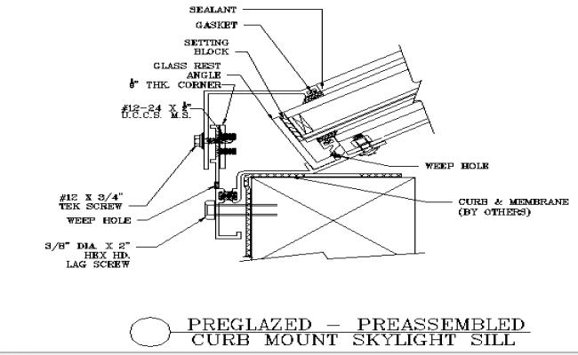 Mount sky light architecture project details dwg file